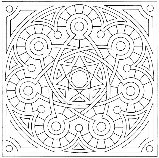 islamic tiles 1 - Childrens Pictures To Colour In